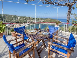 Captain's House is a traditional 2 bedroom village house with spectacular views
