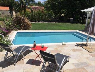 Tres belle villa  avec piscine, acces prive mer et grand jardin - Villa Vetiver
