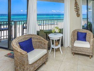 NEW! Reviews 4.9! Ocean front 2BR/2BA Sleeps 6  FREE Beach Chaises  SELLS OUT!