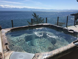 The best ocean front and mountain view deck in Sooke!