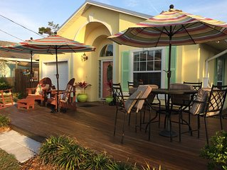 Come enjoy spectacular sunrises at this newly renovated cute  beach cottage.