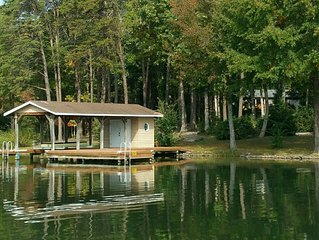 Camp Kirby beautiful waterfront home on the Public Side of Lake Anna with deep w