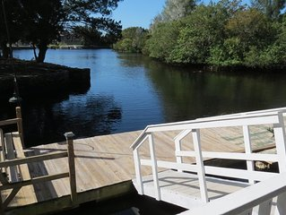 Waterfront Cozy Cottage On Cow Creek With Dock, Canoe, Kayaks, Fishing