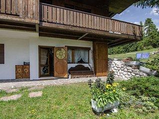 Appartamento trampolino: 4 posti letto con terrazzino esterno e giardino in zona