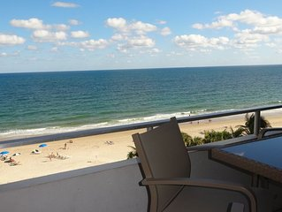 DIRECT OCEAN FRONT WITH VIEWS OF TIKI BAR, POOL & BEACH 2 Bedroom/2Bath Condo
