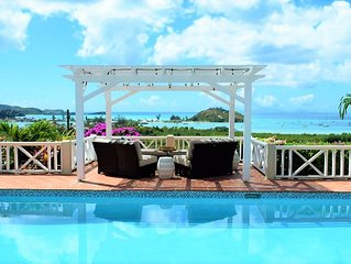 WINTER SPECIALS!! PANORAMIC SEA VIEWS! LUXURY, POOL, OVERLOOKS JOLLY HARBOUR