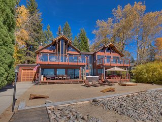 Lake Front Retreat With Your Private Beach & Hot Tub