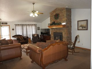 2 Master Suites! 4.5BR Beaver Lakefront, Lake view with Private Boat Dock.