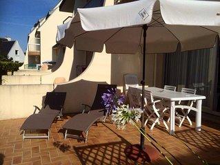 appartement dans résidence calme, proche commerces, plage et thalasso