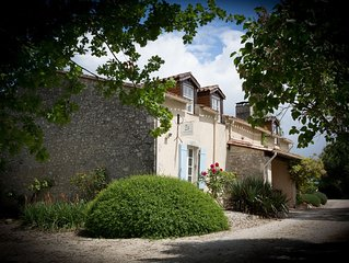 Rural French charm meets English cool - gîte supérieur for 8 with private pool