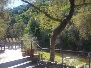 Riverfront Home with Large Deck on South Fork of Kaweah River