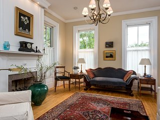 Spacious, elegant, sun-filled historic home in Downtown Hudson