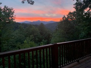 Beautiful North Carolina Mountain View Cabin Overlooking The Smoky Mountains