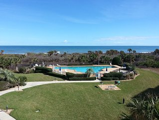 Panoramic ocean views from the 3rd floor corner balcony of Surf Club 1, 2308