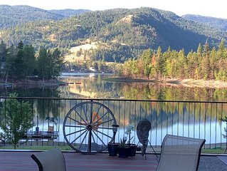 Lakefront Beautiful & Peaceful 2 Bedroom Home with Incredible Lake Views !!