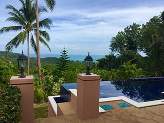 Enchanted Hills villa with private pool & stunning sunsets, ocean & island views