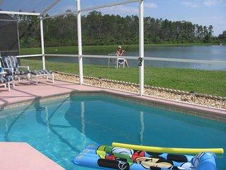 Disney Executive Villa, private south-facing pool, overlooking lake