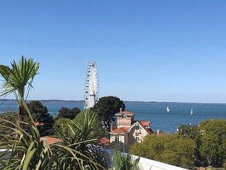 Appt d'Exception -Vue Mer 180°-Centre Ville/plage-Dernier Etage-Garage-WIFI.