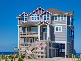 Waterfront Pamlico Sound  Luxurious Resort Home ~  pool, elevator, modern design