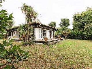 Proche centre ville et golf d'Hossegor belle villa et grand jardin