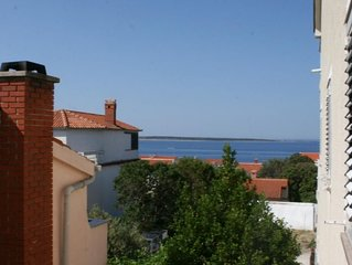 One bedroom apartment with terrace and sea view Mandre (Pag) (A-205-b)