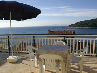Studio flat with terrace and sea view Milna (Hvar) (AS-3074-d)