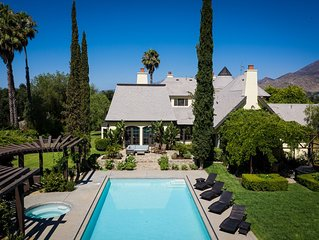 Case Grande Ojai - 5 acres & 5000 sq ft of clean fresh air & sunshine, sleeps 16