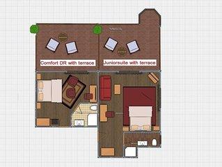 Comfort Doppelzimmer mit Terrasse