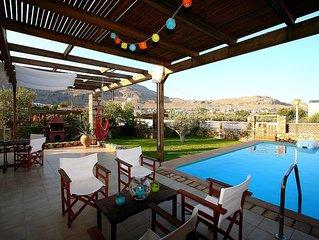 Large Terrace overlooking pool