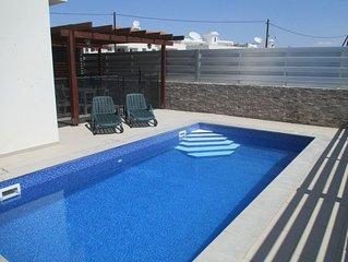 Luxury 5 star villa private pool and patio in quiet village, Larnaca.