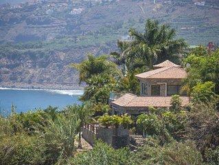 VILLA 'ATLANTICO VIEWS' at protected coast line of Tenerife