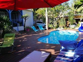 Jolie villa avec piscine and terrasse