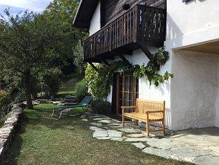 Ruhig gelegenes, stilvolles Walliserhaus mit spektakulärem Blick