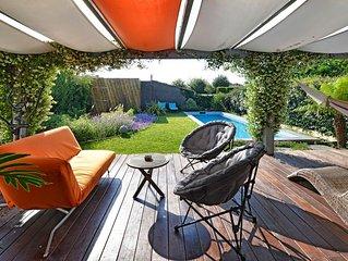 BIARRITZ maison contemporaine, jardin avec piscine sans vis à vis, proche plages