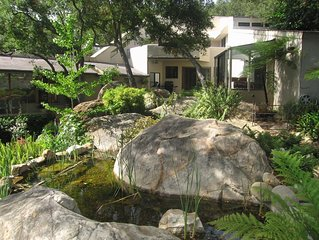 A Serene Home on Tree Lined Mission Creek in the Middle of Nature