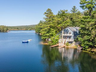 Stunning waterfront home offers lake fun for the entire family