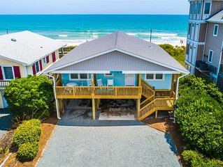 Bunker Hill: 4 Br / 3 Ba Oceanfront In Topsail Beach, Sleeps 8