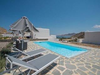 Amazing Villa Luna in Stelida - seaview, pool, jacuzzi , private,