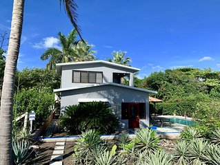 Beachfront Bungalow With Pool (Sleeps 4) + Guest House (sleeps 3/additional cost