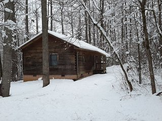 Cabin Is Privately Situated On The Edge Of A Large Wooded Track Of Land.