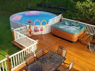 Spacious 3Bdrm with Private Pool, Hot Tub, pool table;close to Water& Ski Parks
