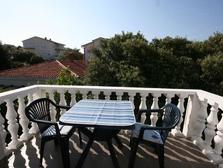 One bedroom apartment with terrace and sea view Mandre (Pag) (A-6405-c)