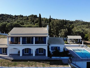 Family Villa with pool, sea and mountain views in tranquil setting