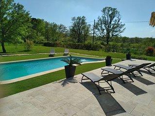 Tourrettes air-conditioned villa with private pool