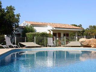Mini Villa 2 à 4 pers avec piscine à Ste Lucie de Porto Vecchio proche plage
