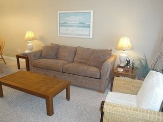 2 bedroom / 2-1/2 bath town-home across from the beach!