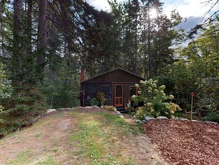 Inviting & rustic cabin w/wood-burning fireplace & grill- Enjoy a private beach!