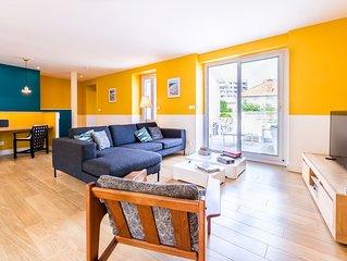 Appartement en Duplex avec Terrasse, Aperçu mer et Parking à Biarritz