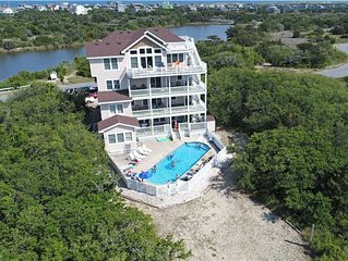 Island Paradise  Soundside w/Htd Pool&HotTub, Elevator, RecRoom