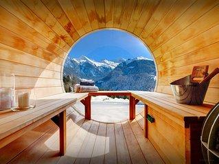 Splendide chalet, vue imprenable, piscine (ete), sauna bulle - OVO Network